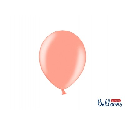 Balony Strong 23cm, Metallic Rose Gold (1 op. / 50 szt.)